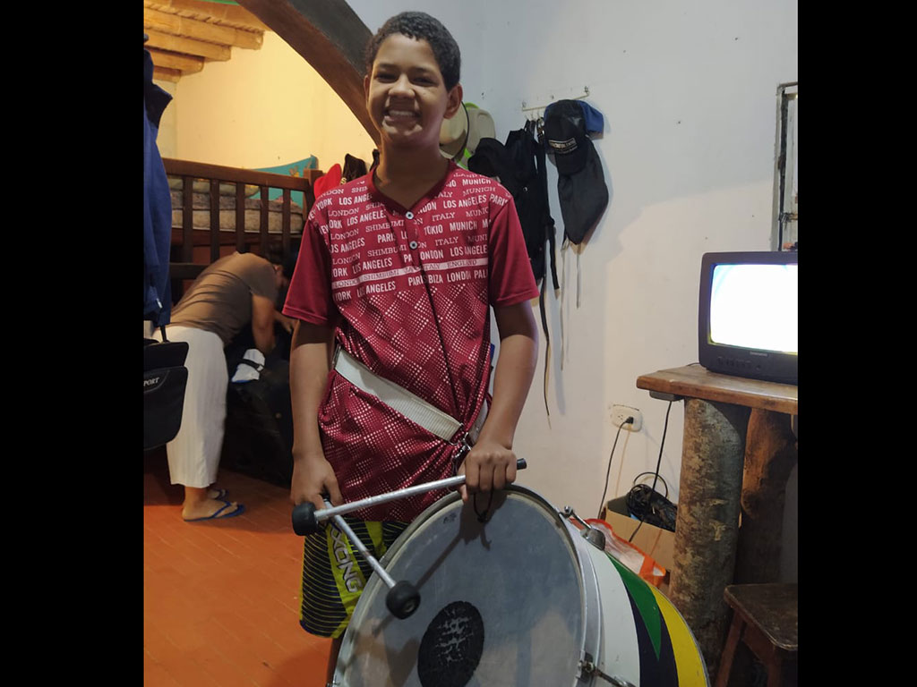 Practica con la tambora
