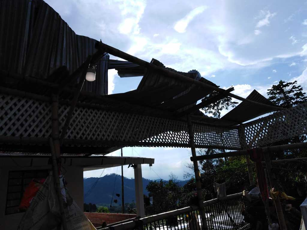 Circasia, el más afectado del  Quindío por vendaval