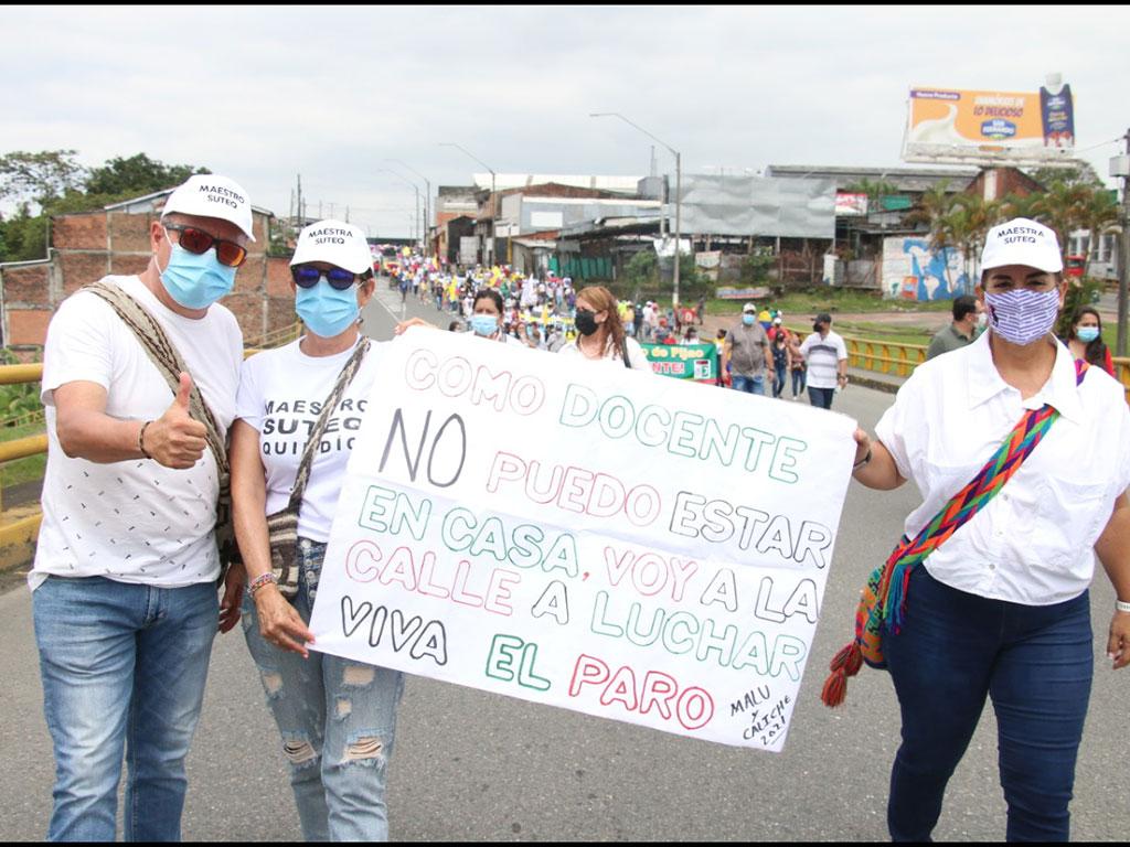 Con su consigna 'a parar para avanzar', Fecode sienta su voz de protesta