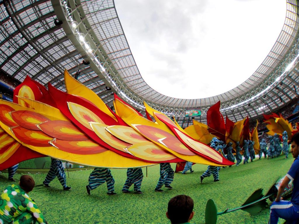 Así fue la colorida inauguración del mundial de Rusia 2018