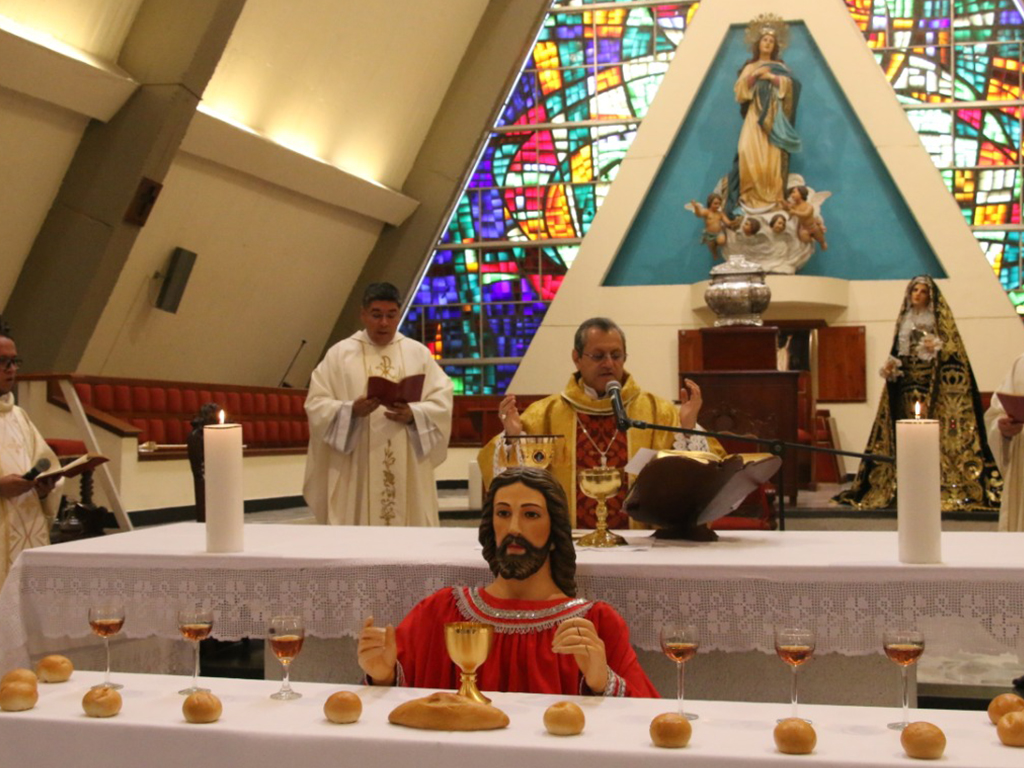 Cena del Señor, catedral La Inmaculada Concepción de Armenia
