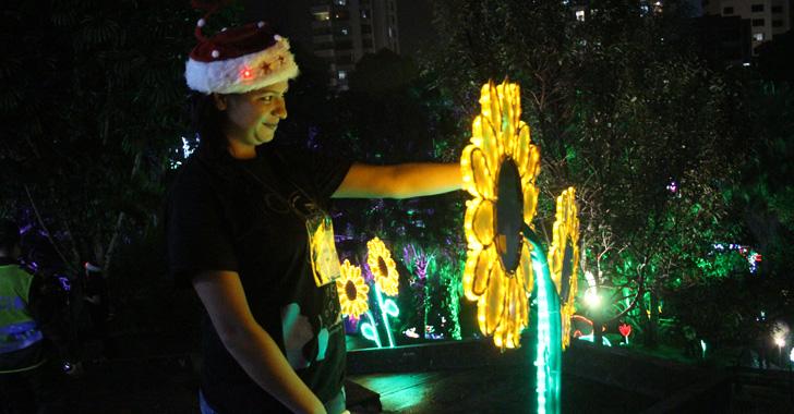La magia de la Navidad  se encendió en el parque De la Vida