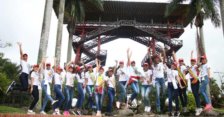 Candidatas al Reinado Nacional del Café visitaron el Parque del Café