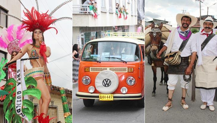 Color, nostalgia y tradición se dieron cita en las calles de Calarcá