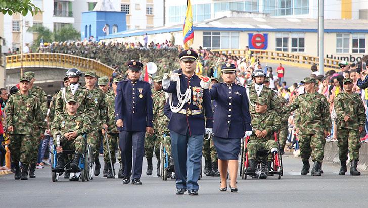 Desfile del 20 de julio en Armenia estuvo a cargo de Fuerzas Armadas y Policía