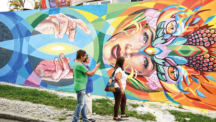 Con un homenaje al Poporo se vivió el Festival de Arte Urbano