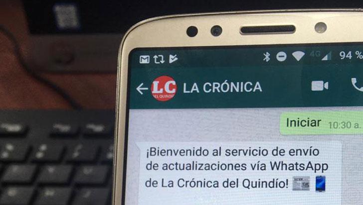 Reciba las actualizaciones de La Crónica en su celular a través de WhatsApp