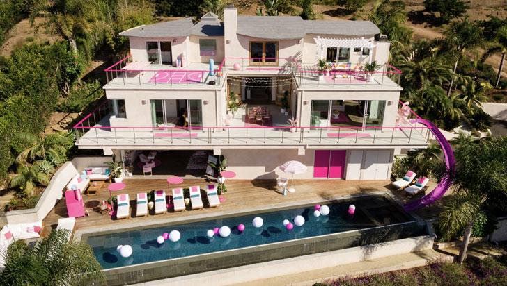 Barbie renta su casa rosa en Malibú por Airbnb