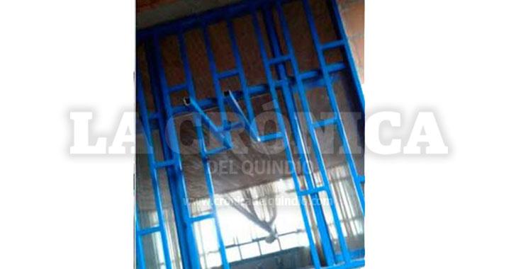 Robaron colegio en Quimbaya