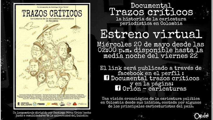 Caricatura periodística de Colombia, presentada en un documental
