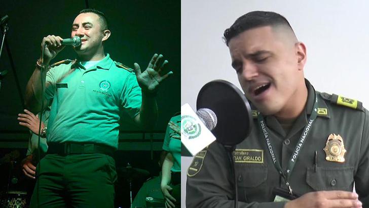 Alexánder y Sebastián, los cantantes que irradian alegría en la Policía