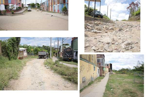 En La Linda las calles son caminos de herradura