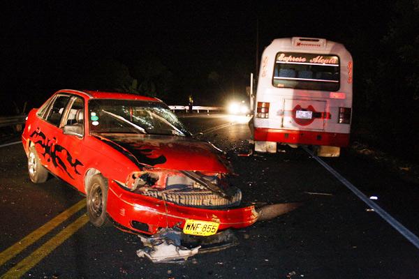 Cuatro heridos en accidente