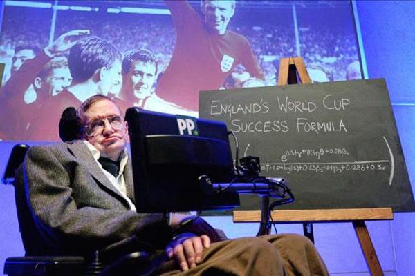 Hawking revela las claves científicas para el éxito de Inglaterra en Brasil