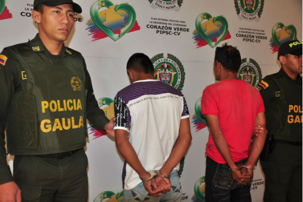 Las detenciones se dieron en el municipio de Caicedonia.