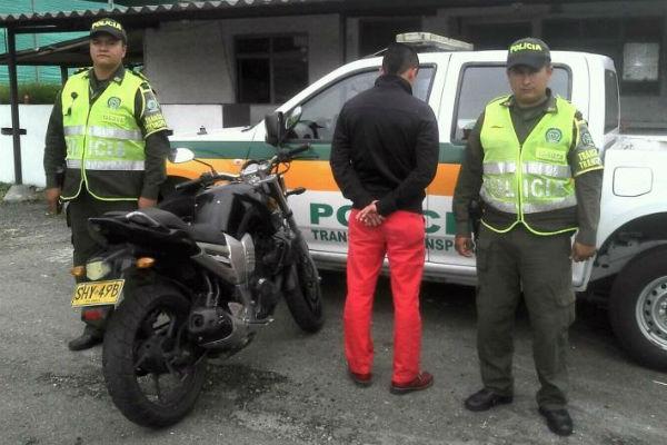 El caso fue reportado por personal de la Seccional de Tránsito y Transporte.