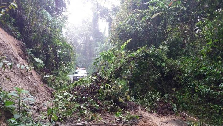 Deslizamientos por lluvias en varios municipios del Quindío