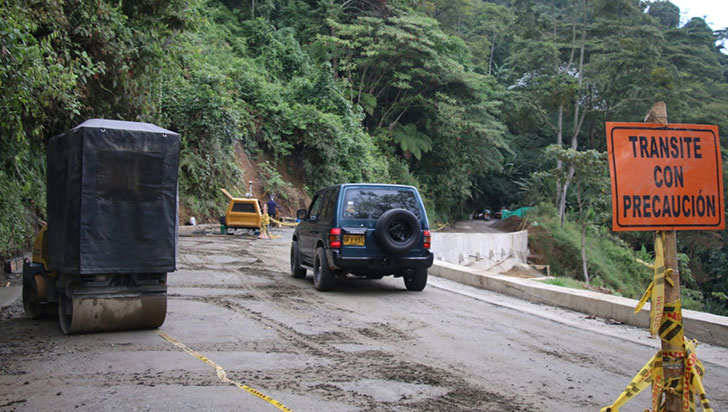 Vía Río Verde-Pijao, sin fecha de finalización de las obras