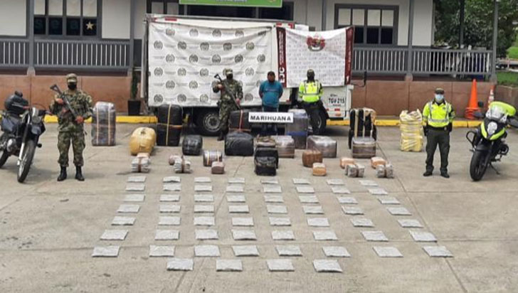 755 kilos de marihuana incautados por las autoridades