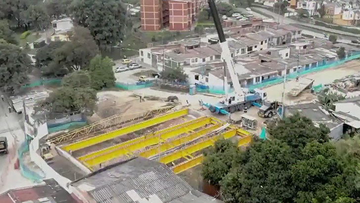 Terminó la instalación de vigas que soportarán el puente de Los Quindos