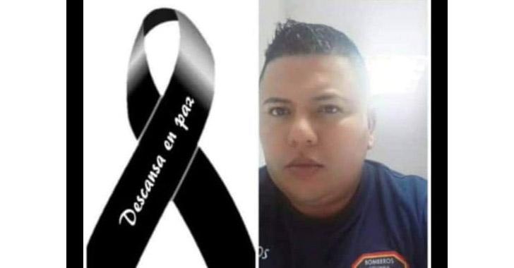 Cuerpo de bomberos de luto, tras muerte de Édgar Mauricio Campos