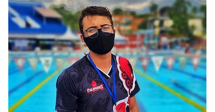 Juan Sebastián Toro Ramírez, promesa quindiana de la natación