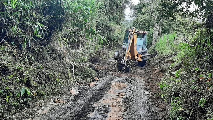 Por lluvias, en Salento se presentaron derrumbes en vías terciarias