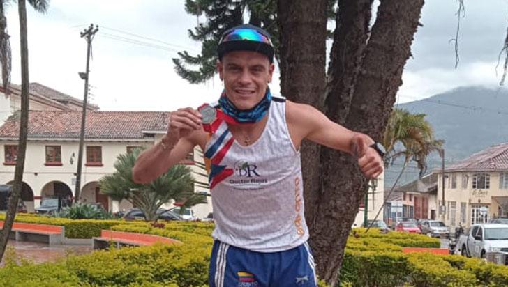 Felipe Delgado Mejía, oro en Trail Runing