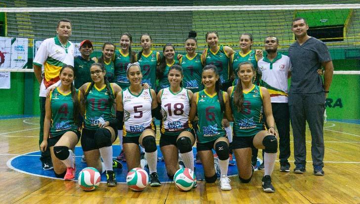 Nacional de voleibol en el coliseo del Café, hoy juega Quindío