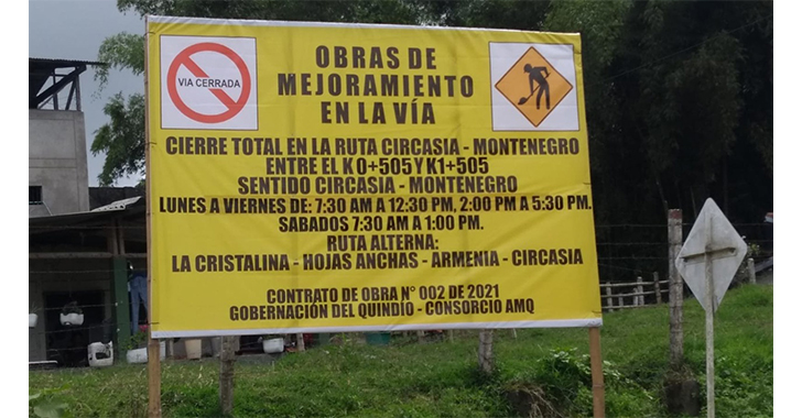 Cerrarán la vía entre Circasia y Montenegro