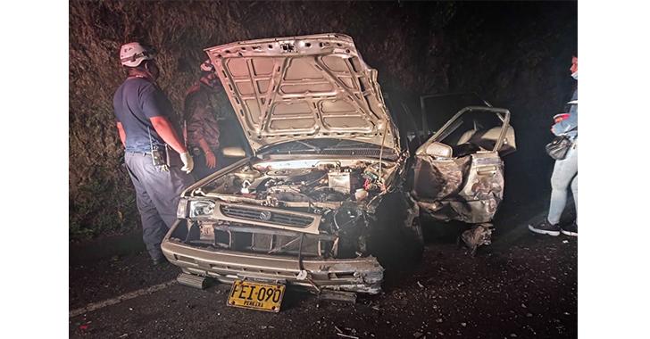 3 heridos por accidente entre Montenegro y Quimbaya