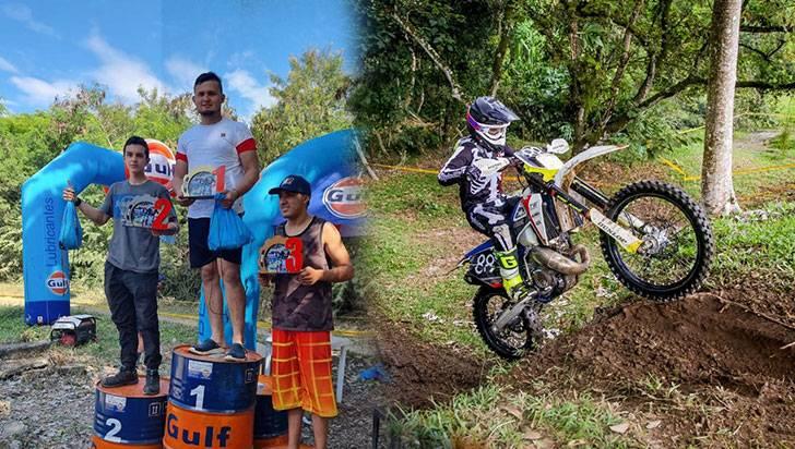 Quindianos lograron 3 subcampeonatos en IV Válida Nacional de Enduro