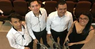 Nace en el departamento el primer Cuarteto Cuyabro de Clarinetes