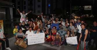 Artistas quindianos protestaron para defender el arte ambulante