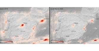 La caída de la contaminación por el confinamiento se ve desde el espacio