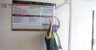 Se inauguró arco de desinfección en hospital y hogar del anciano