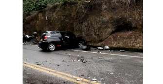 Un herido en accidente de tránsito vía Armenia a Calarcá, sector La María