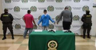 3 hombres armados, capturados en el barrio Santander de Armenia
