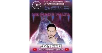 Jayffo estrena a nivel mundial su sencillo 'Me hace falta'