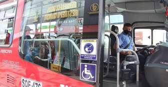 Buses Tinto podrán transitar con el 50 % de su capacidad