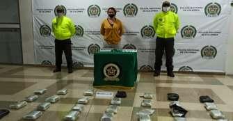 Capturada en Armenia por almacenar 27 kilos de droga
