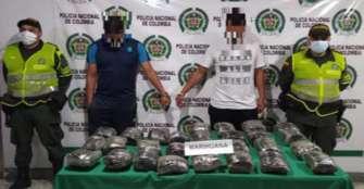 Arrestados 2 hombres por movilizar 13.950 gramos de marihuana