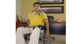 """""""Quiero aportar para que el tenis en silla de ruedas de Quindío se fortalezca"""""""