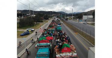 La minga indígena del suroeste se toma las calles de Bogotá
