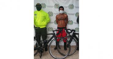 Alias Barbado capturado por receptación de 2 costosas bicicletas
