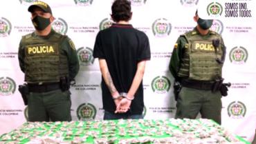 Joven de 19 años fue capturado por  transportar 1.571 gramos de marihuana