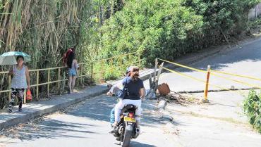 Este año tampoco se alcanzará a reparar el puente de Jardín de La Fachada