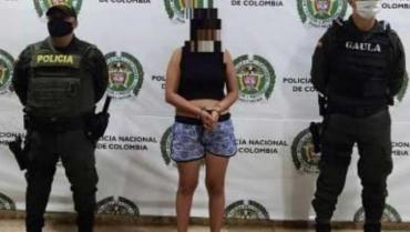 Capturada por extorsión en el barrio Las Colinas