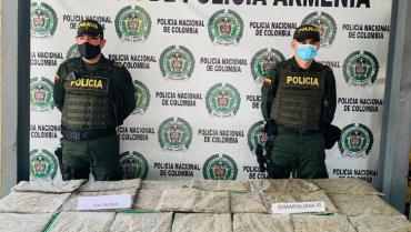 Hallaron 10 kilos de marihuana en zona boscosa del Nuevo Armenia