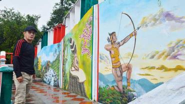 Jorge González, el calarqueño que transforma jóvenes y lugares con el arte